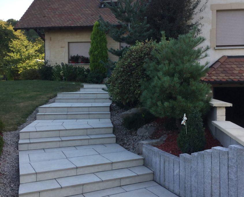 Escaliers topjardin paysagiste alsace creation contemporaine for Paysagiste alsace